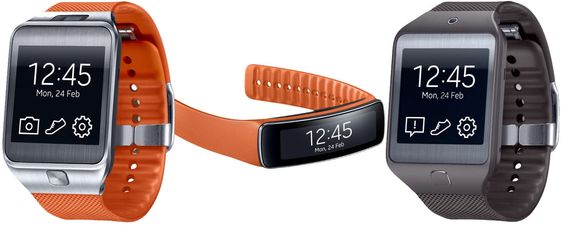 Samsung Gear 2, Galaxy Fit og Gear 2 Neo.