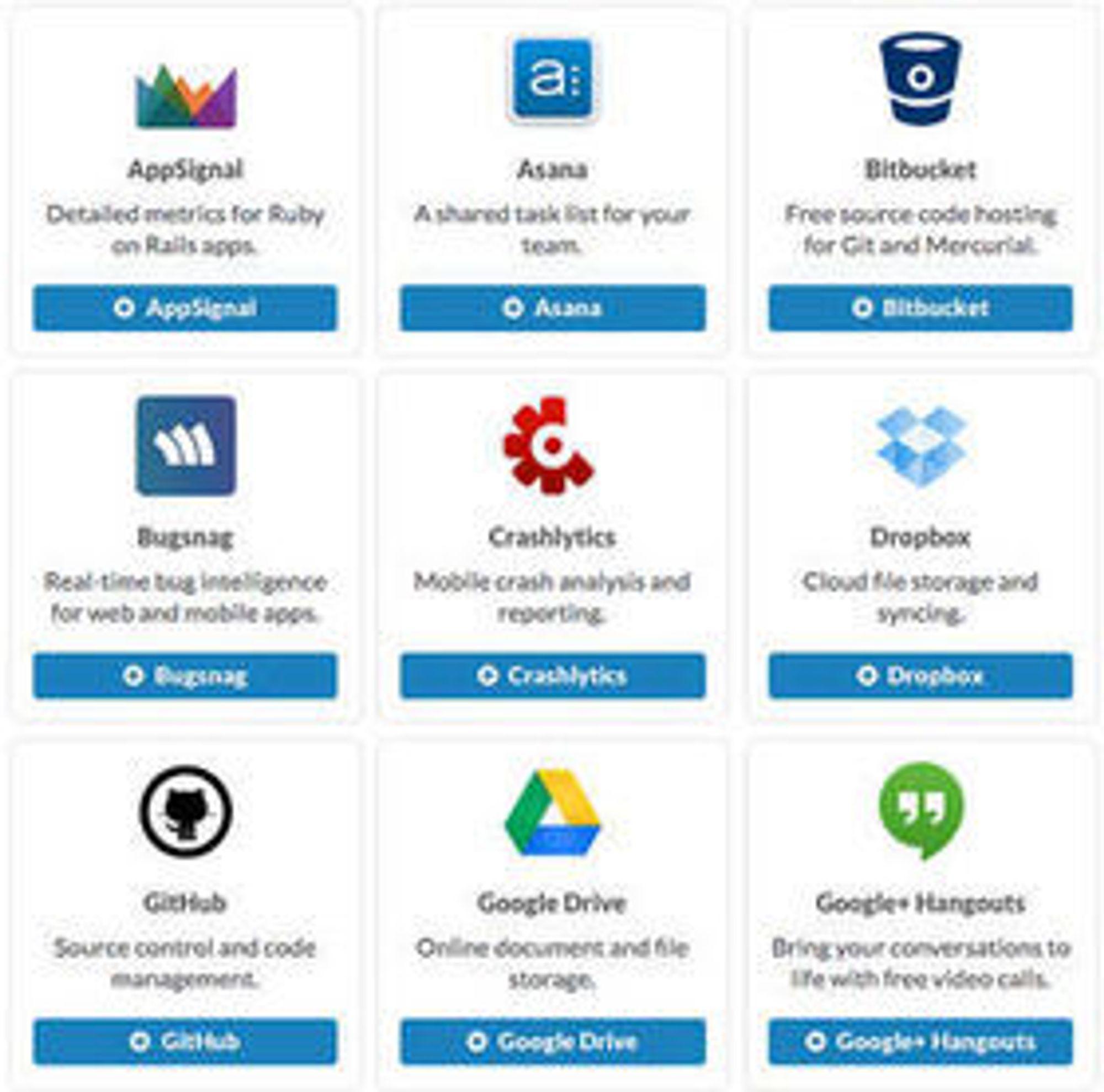Github, Google Docs, Dropbox … listen er lang over tjenester du kan koble til Slack-kontoen.