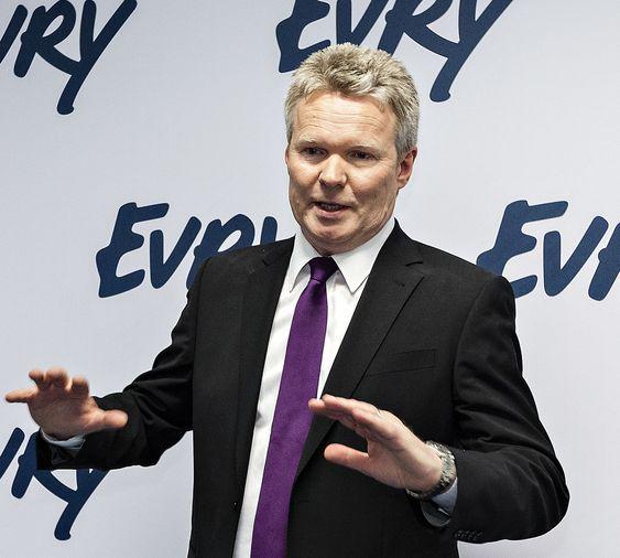 KRISE: Evrys konsernsjef Terje Mjøs deltok selv i kriseledelsen som ble etablert tirsdag da bank-havariet var et faktum.