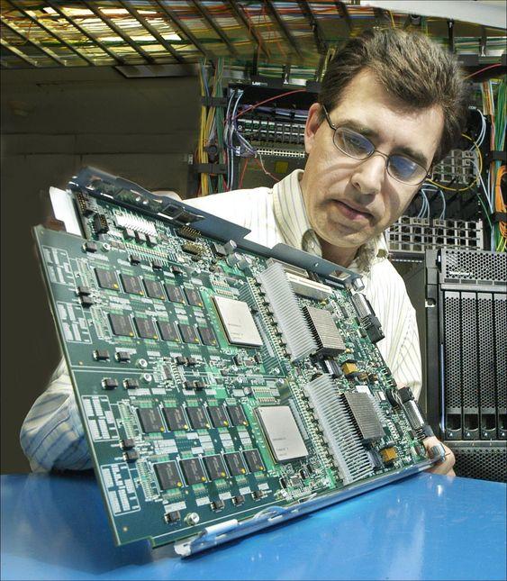 Cell-basert kretskort som ble brukt i superdatamaskinen Roadrunner.