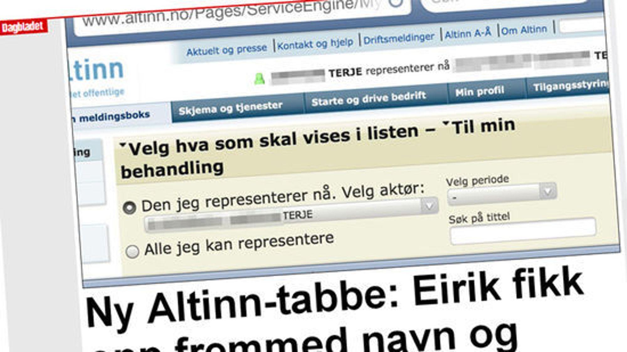 """""""Terje"""" ble årets """"Kenneth"""" da en ny feil rammet Altinn."""