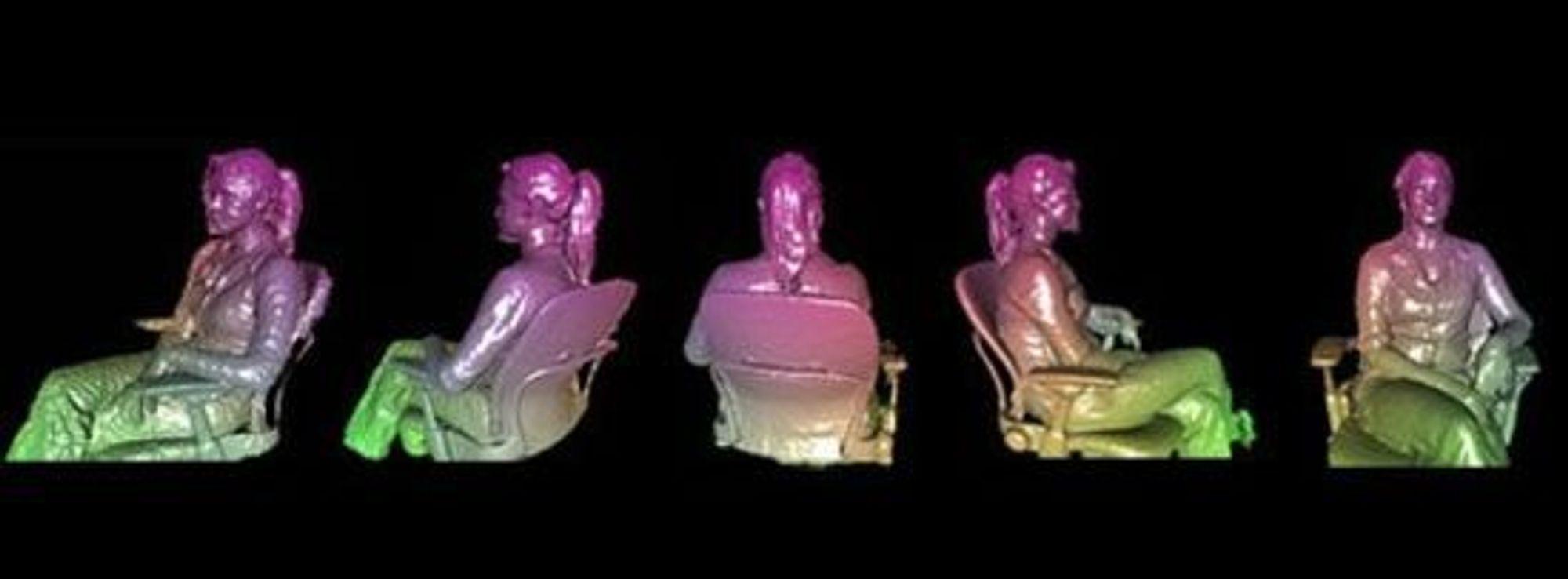 3D-objekter registreres i sanntid ved å bevege Kinect-sensoren rundt et objekt eller vice versa.