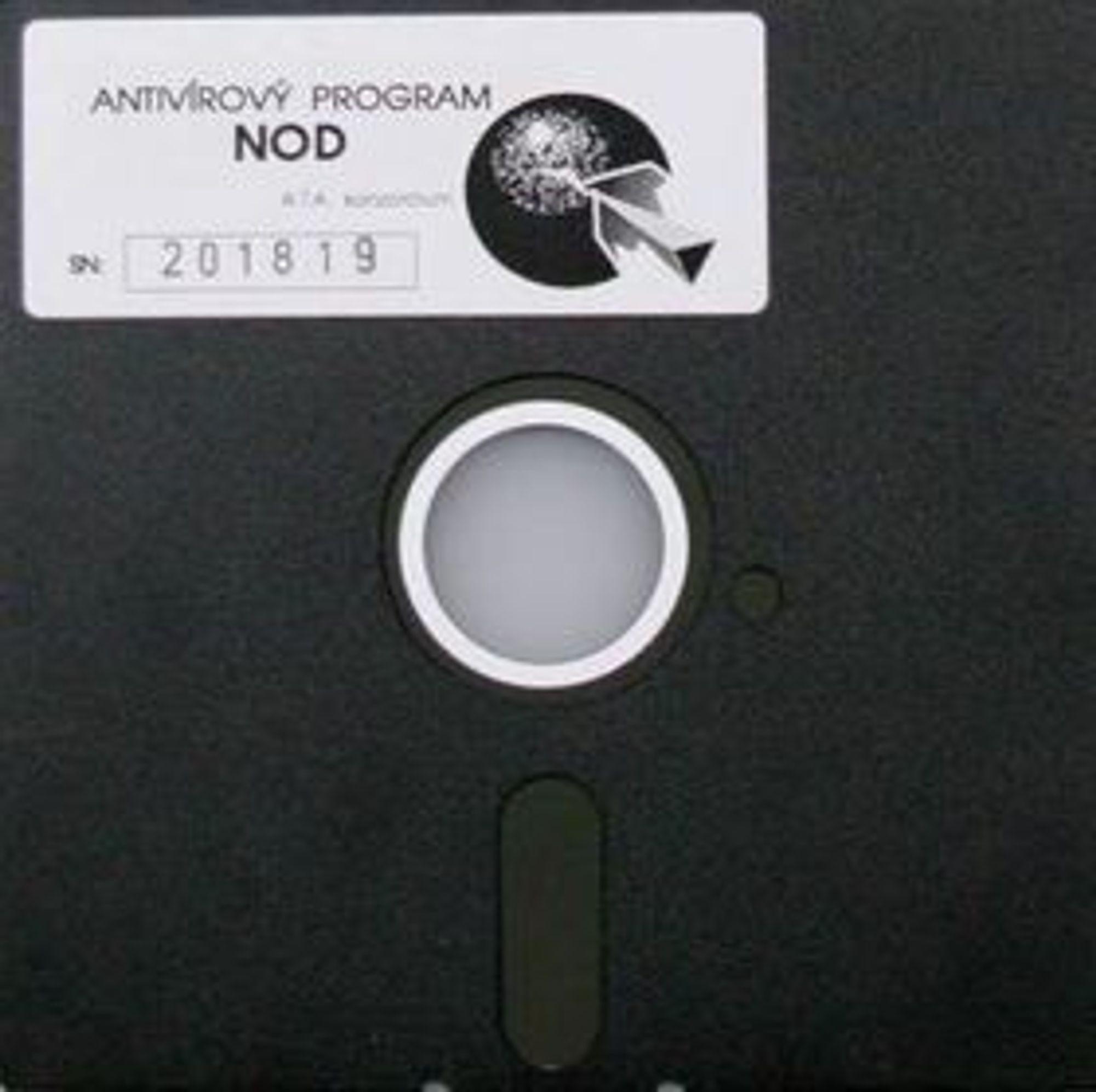 Diskett med den opprinnelige utgaven av NOD.