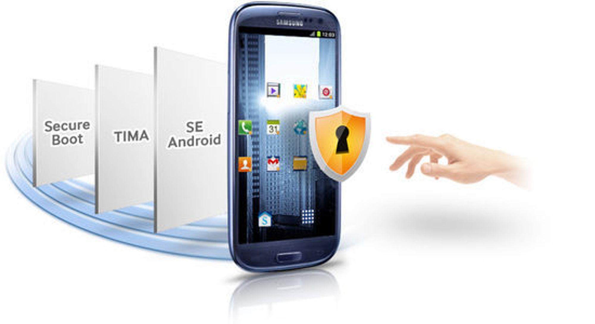 Samsung Knox er basert på flere lag med sikkerhetsteknologi.