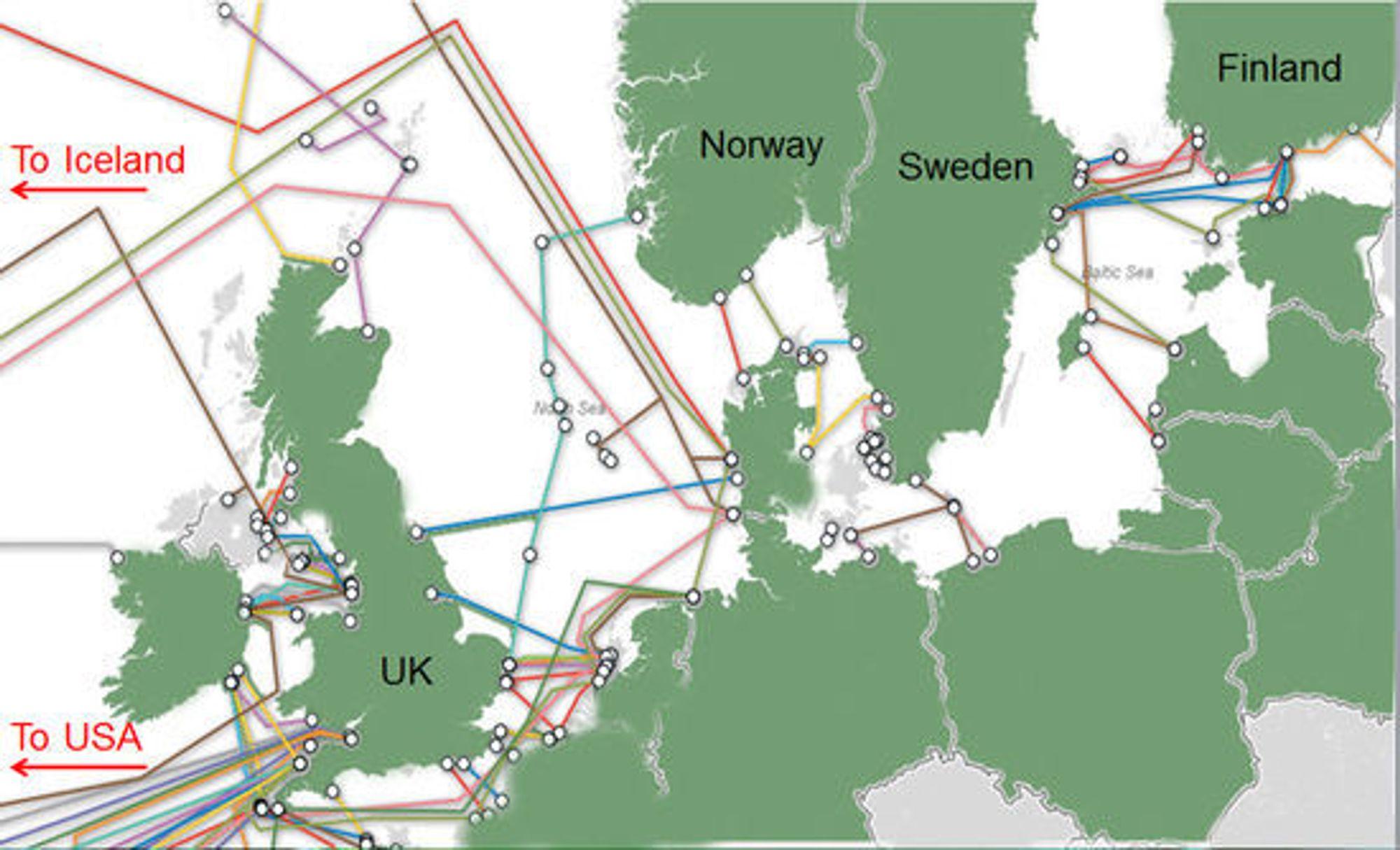 Det er for få fiberlinjer ut av Norge.