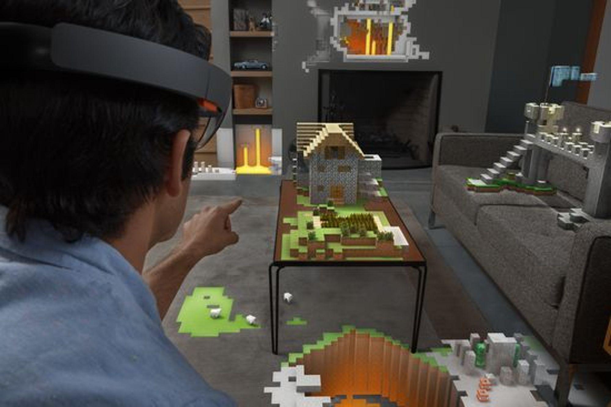 Et eksempel på hvordan HoloLens-brillene kan fungere.