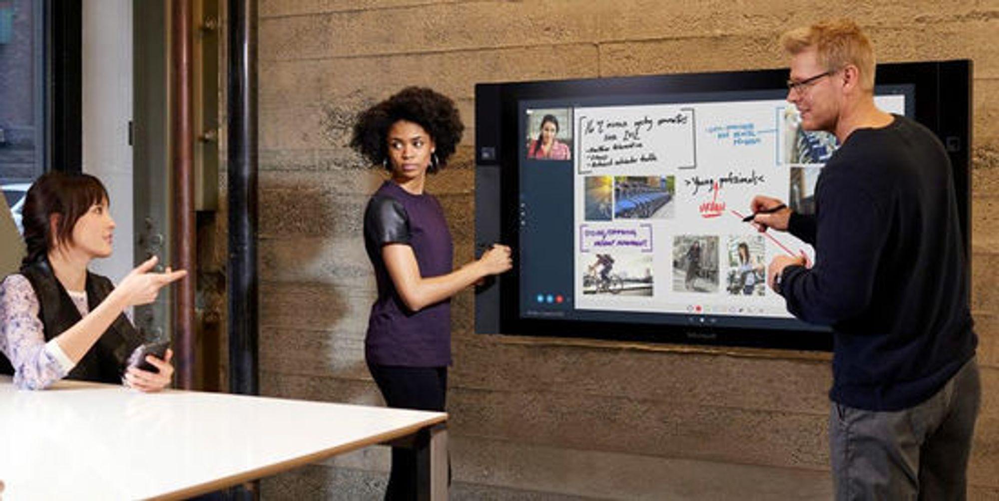 Surface Hub kan kanskje gjøre konferanser hyggeligere.