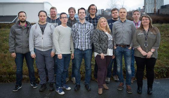Teamet som har gjennomført Windows 7-prosjektet for Helse Nord.