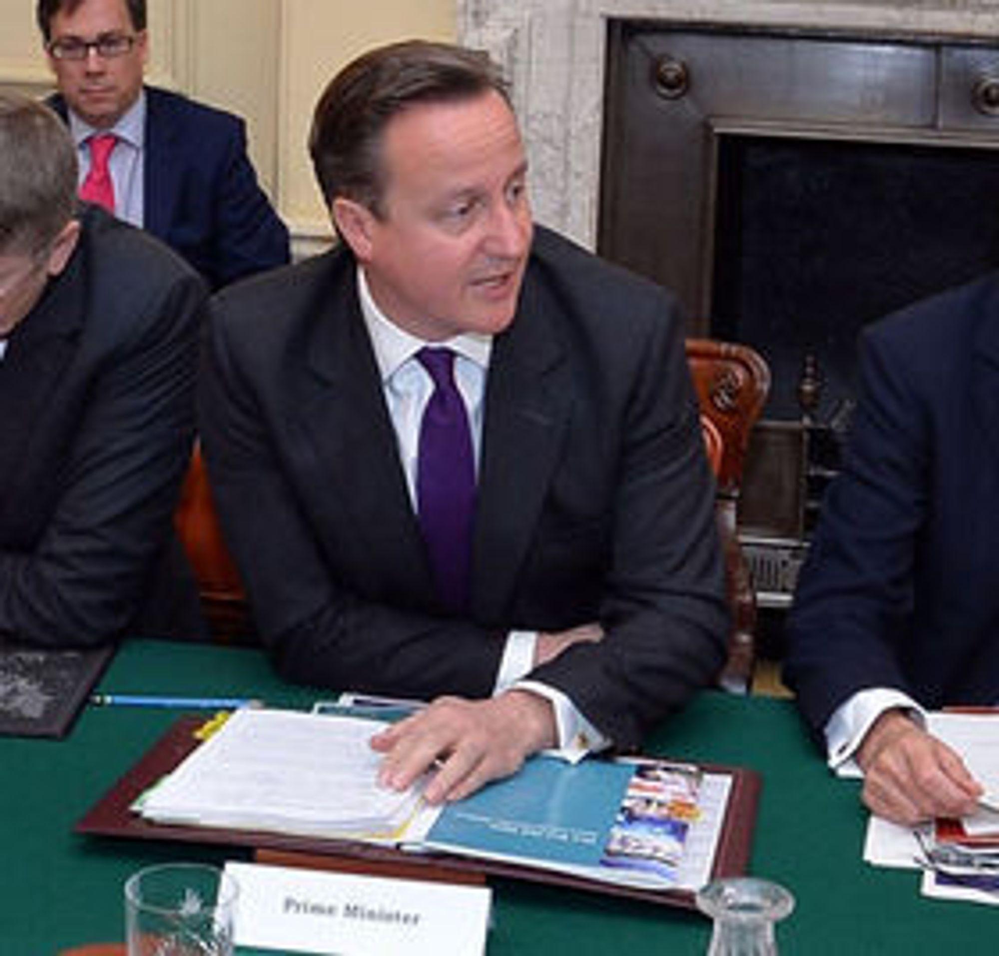 Statsminister David Cameron.