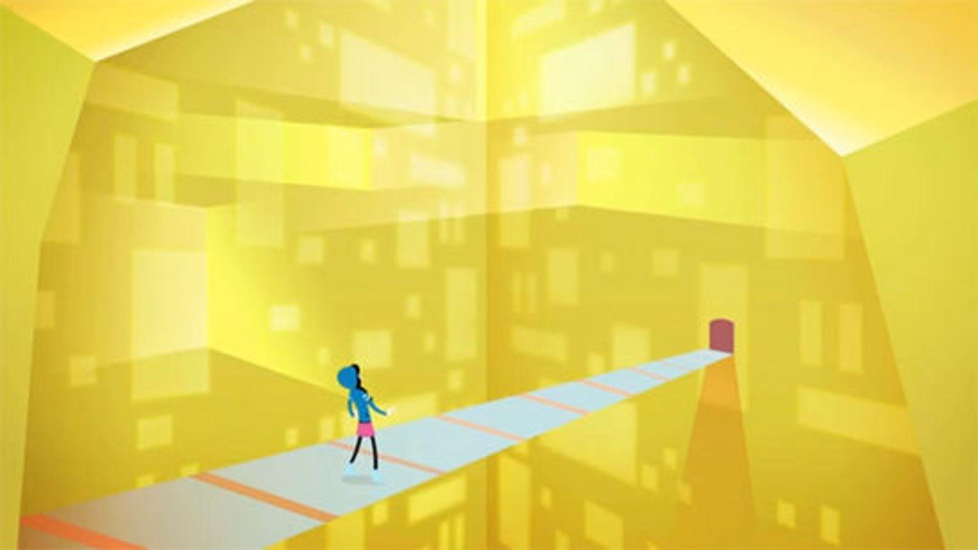 Gjennomgangsfiguren i programmeringens lyse verden, slik teknisk kunstner Bronwen Grimes beskriver.