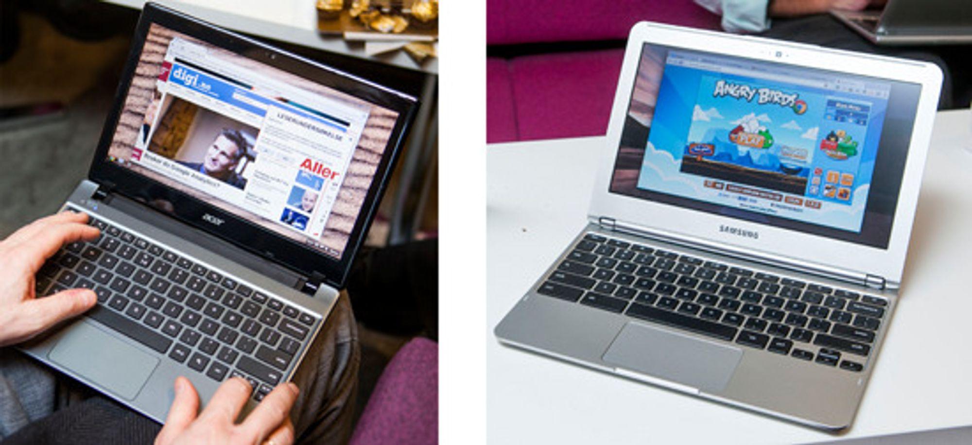 Surfing og spill: Chromebook gjør det enkelt og billig.
