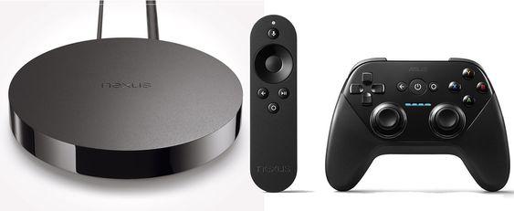 Google Player leveres med fjernkontroll og kan også utstyres med gamepad.