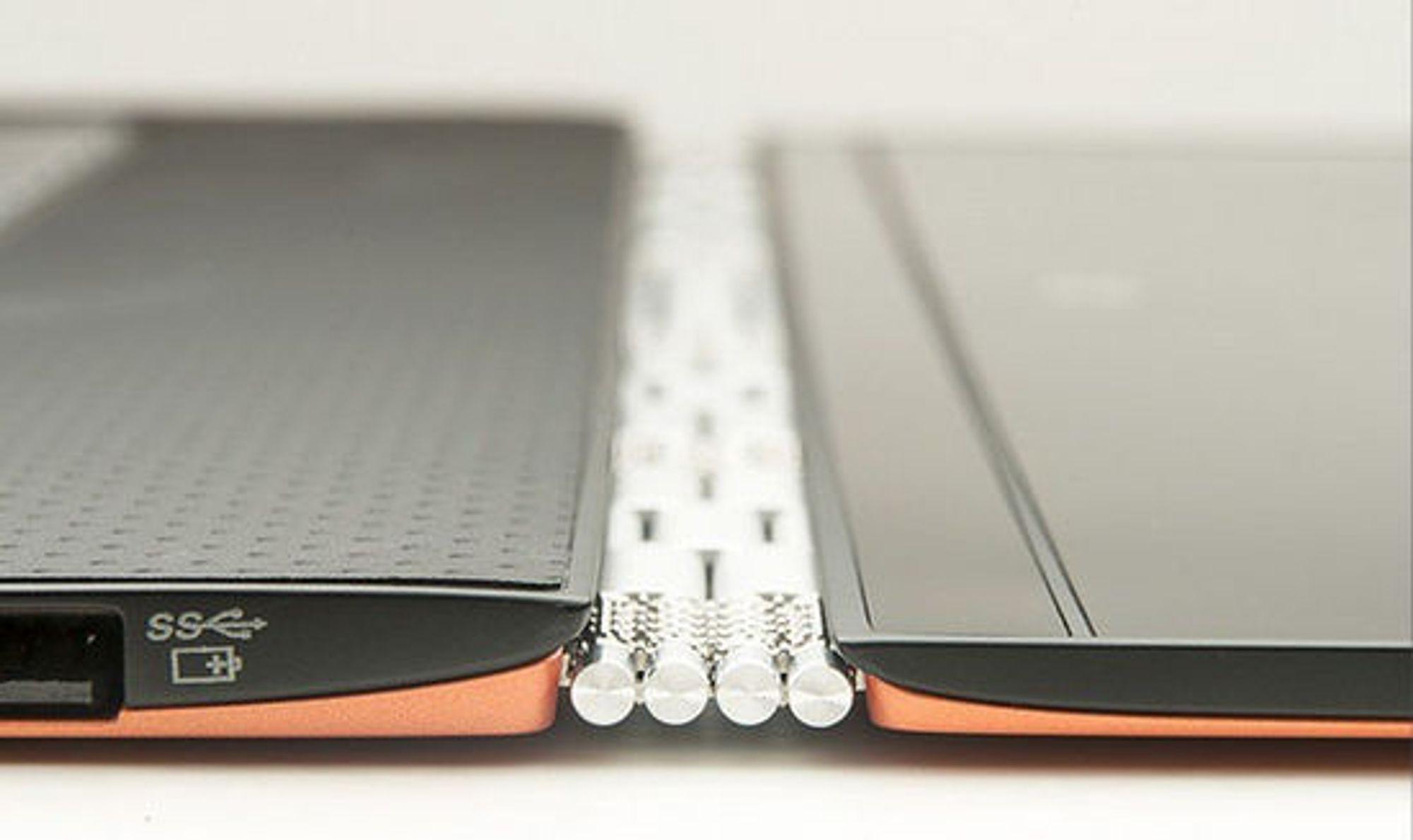 Lenovo Yoga 3 Pro er utstyrt med helt spesielle hengsler.