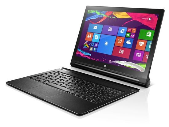 I alle fall Windows-utgaven av Lenovo Yoga Tablet 2 kan leveres med tastatur.