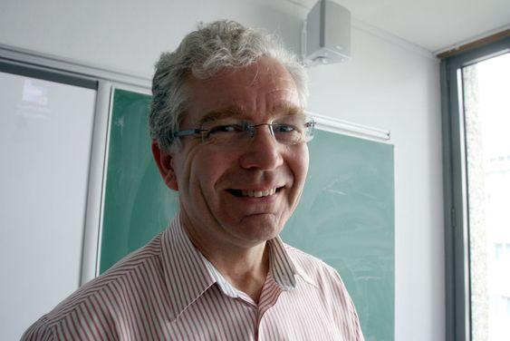 Harald Os holdt foredrag på UiOs Domus Nova tirsdag i forrige uke.