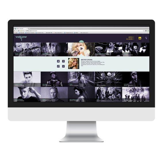 Webgrensesnittet til VidFlow.