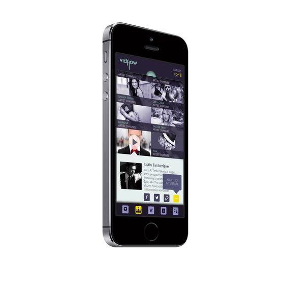 iPhone-versjonen av VidFlow.
