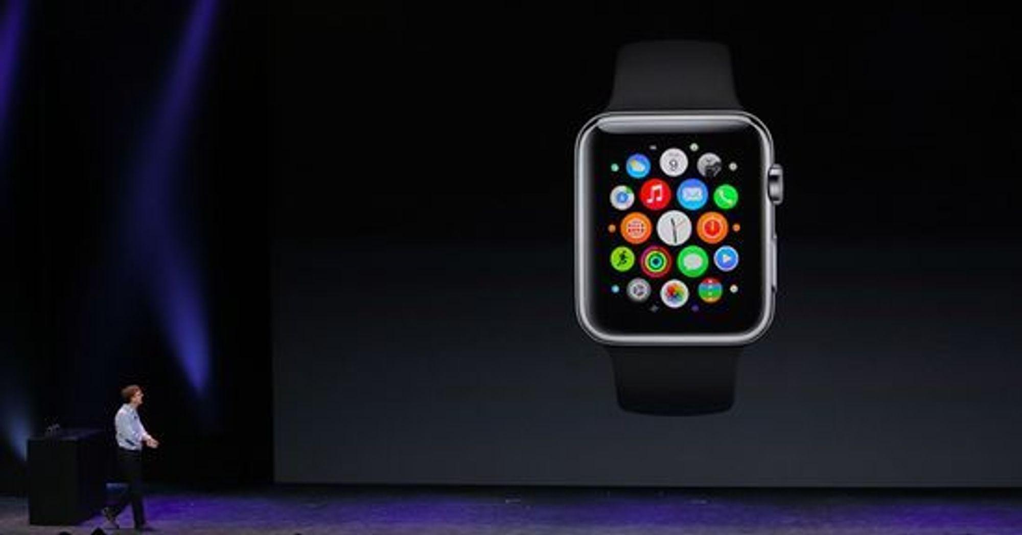Apple Watch har et grensesnitt basert på fargerike bobler.