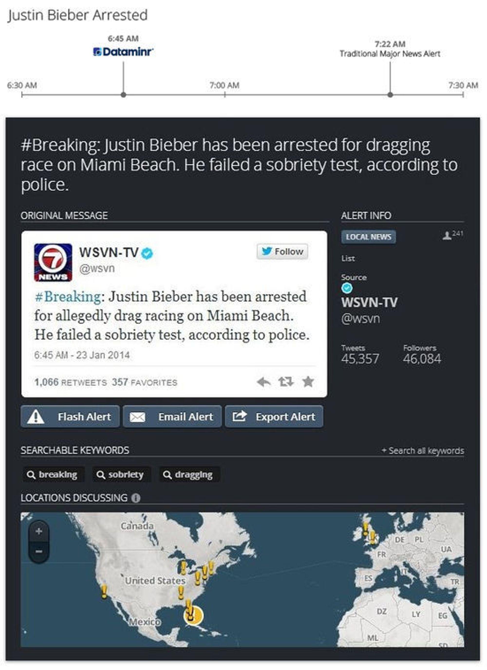 NYHETER I SANNTID: Analyseverktøyet Dataminr for News skal hjelpe medier å finne nyheter på Twitter raskere.