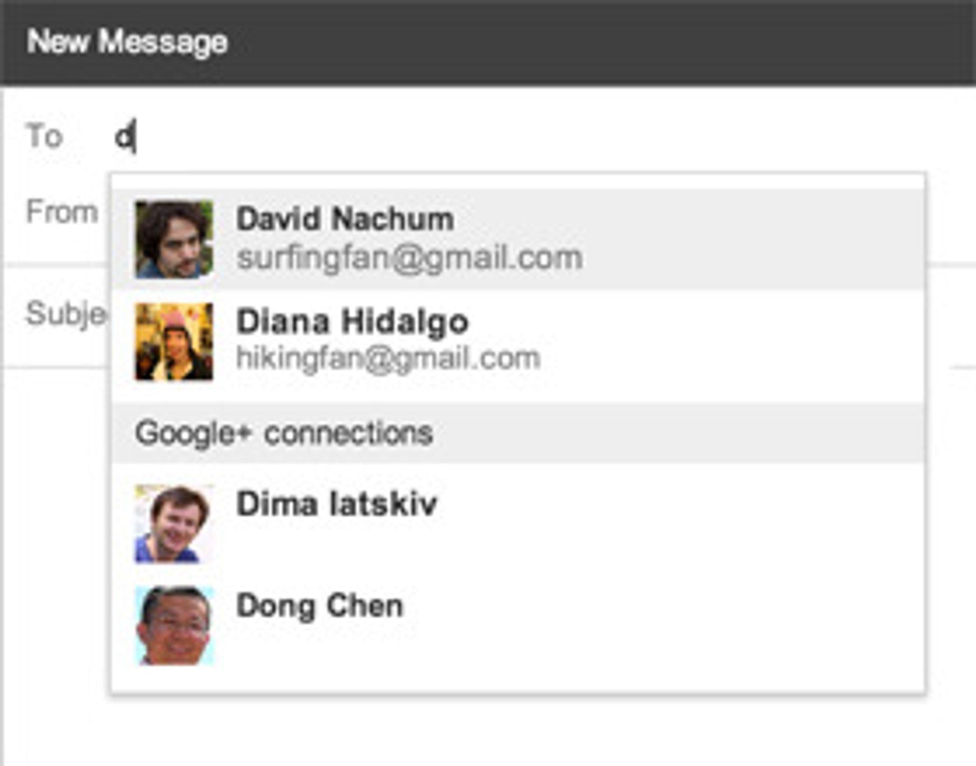 Nå blir det mulig å kontakte personer i Google-universet, uavhengig av om du har e-postadressen deres eller ikke.
