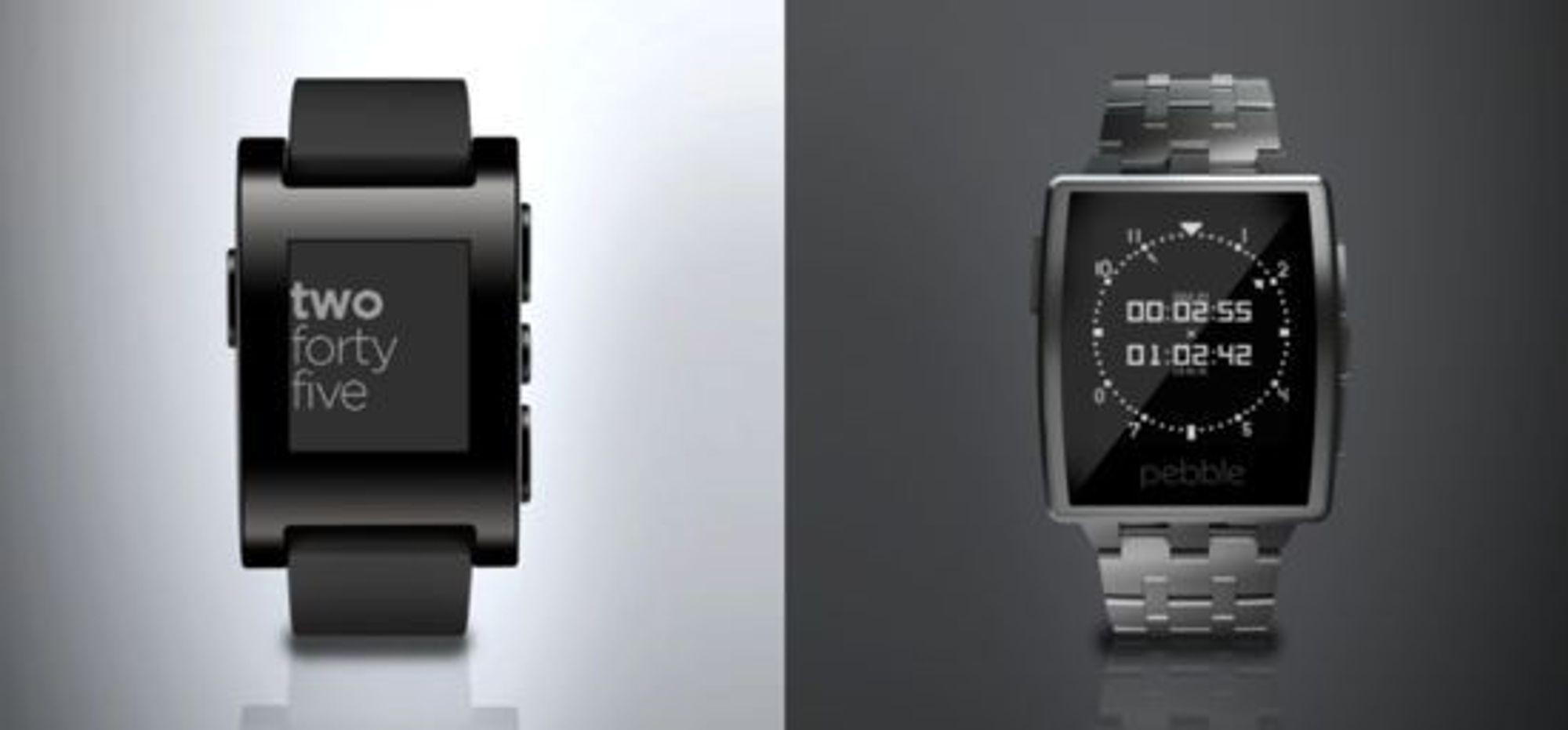 Pebble Steel (til høyre) framstår som langt mer elegant enn forgjengeren.