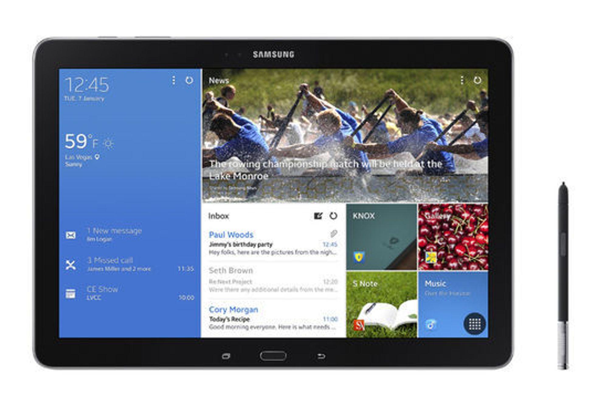 Samsung satser på 12 tommers nettbrett.