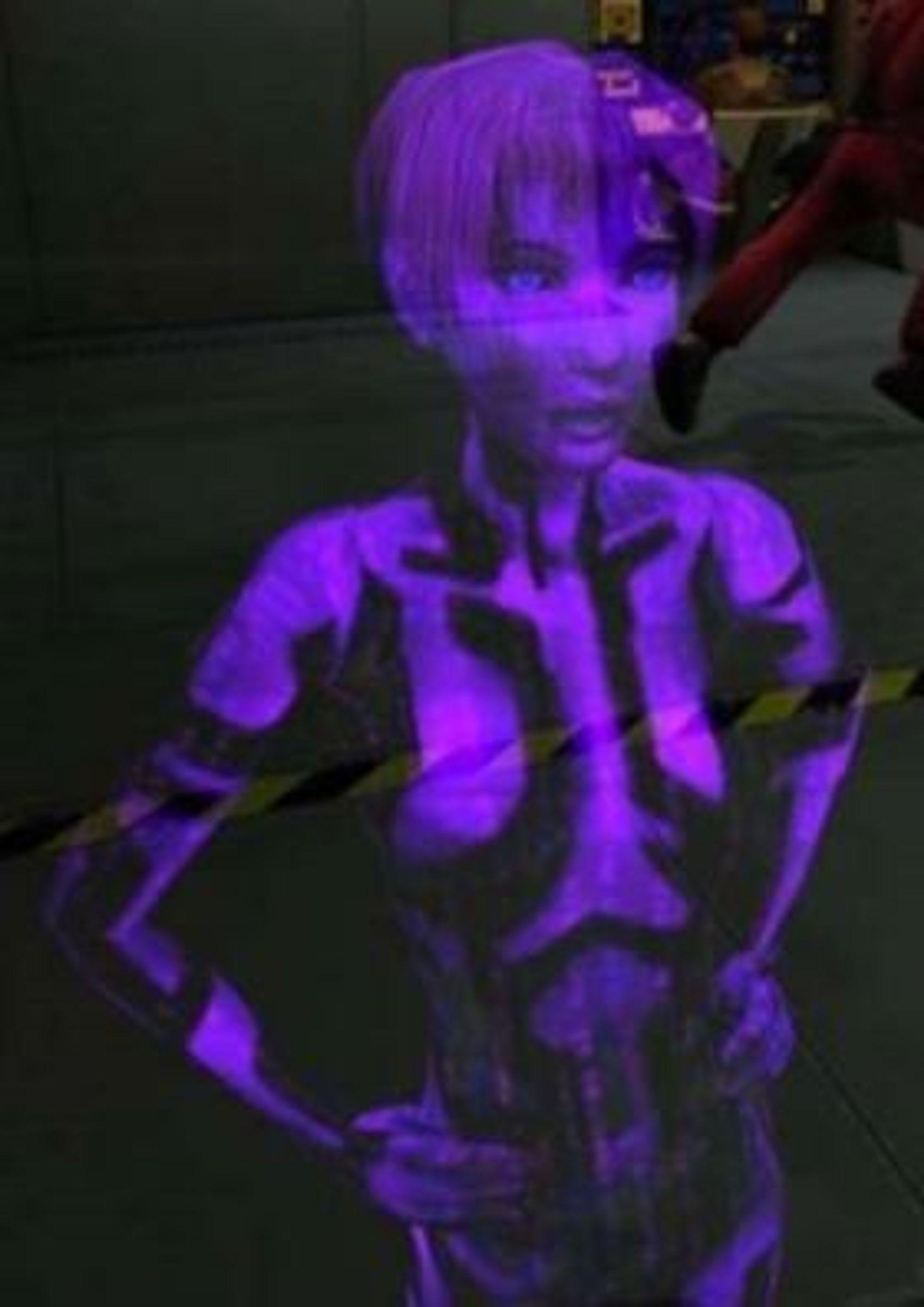 Originalutgaven av Cortana, hentet fra spillet Halo: Combat Evolved.