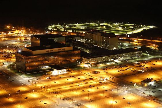 Det amerikanske spionorganet NSA (National Security Agency) har hovedkvarteret sitt ved Fort Meade i delstaten Maryland.