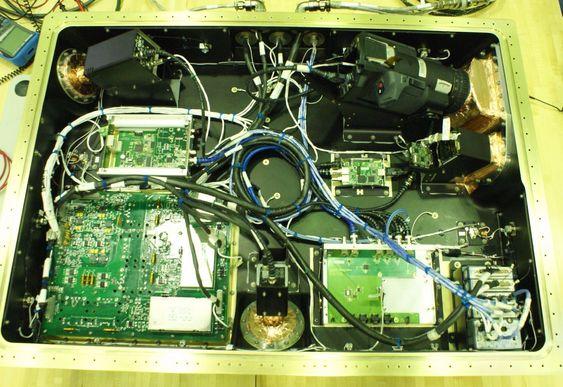 Kameraene og mye av den andre elektronikken som finnes i HDEV-modulen.