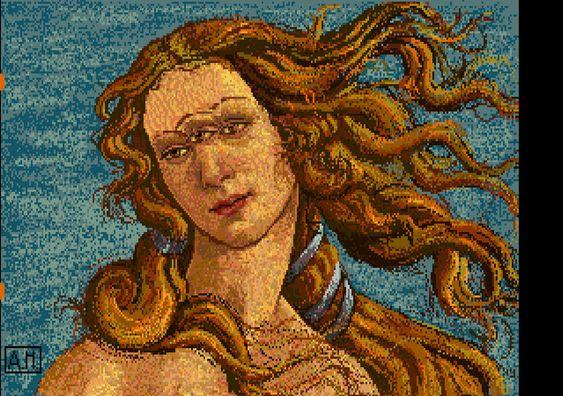 Venus, i dag kanskje mest kjent fra Adobes Illustrator. Warhol sin utgave har fått et tredje øye.