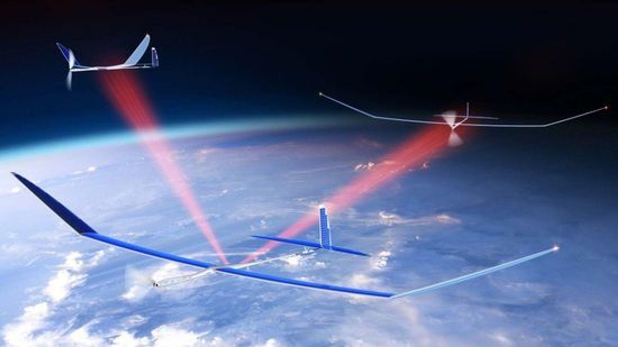 Lasersamband skal gjøre det mulig å fly dronene i formasjon.