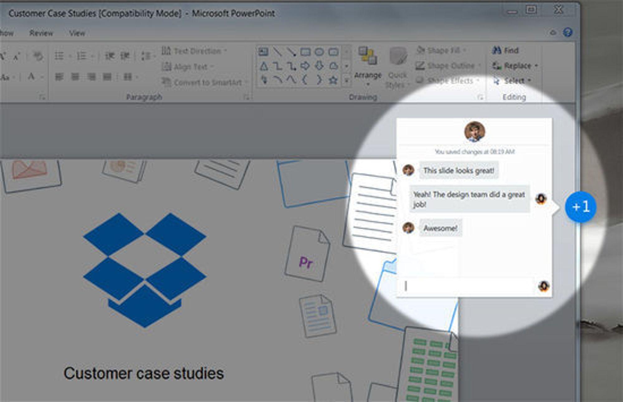 Med Project Harmony skal Dropbox tilby i alle fall bedriftskundene bedre samarbeidsmuligheter.