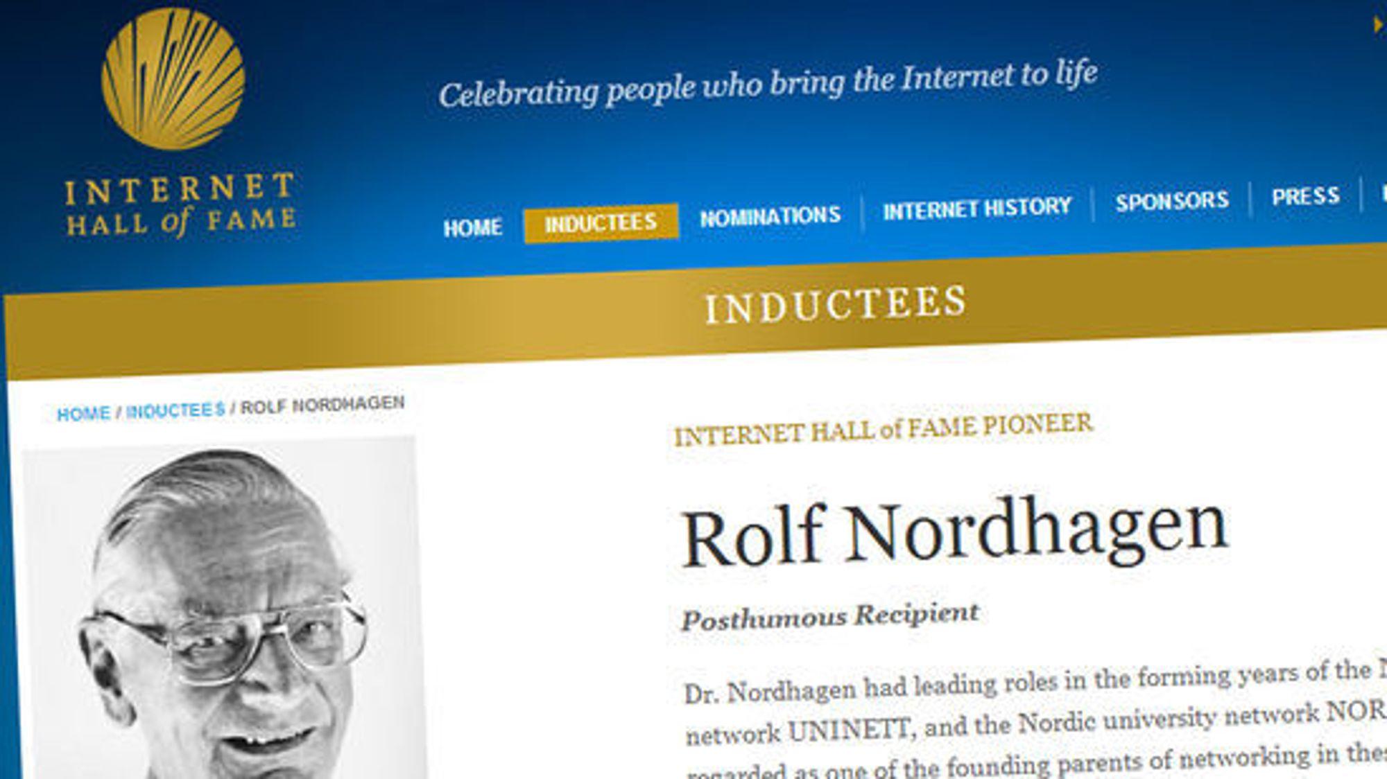 Rolf Nordhagen erkjennes internasjonalt: Han var blant dem som sørget for å få liv i Internett.