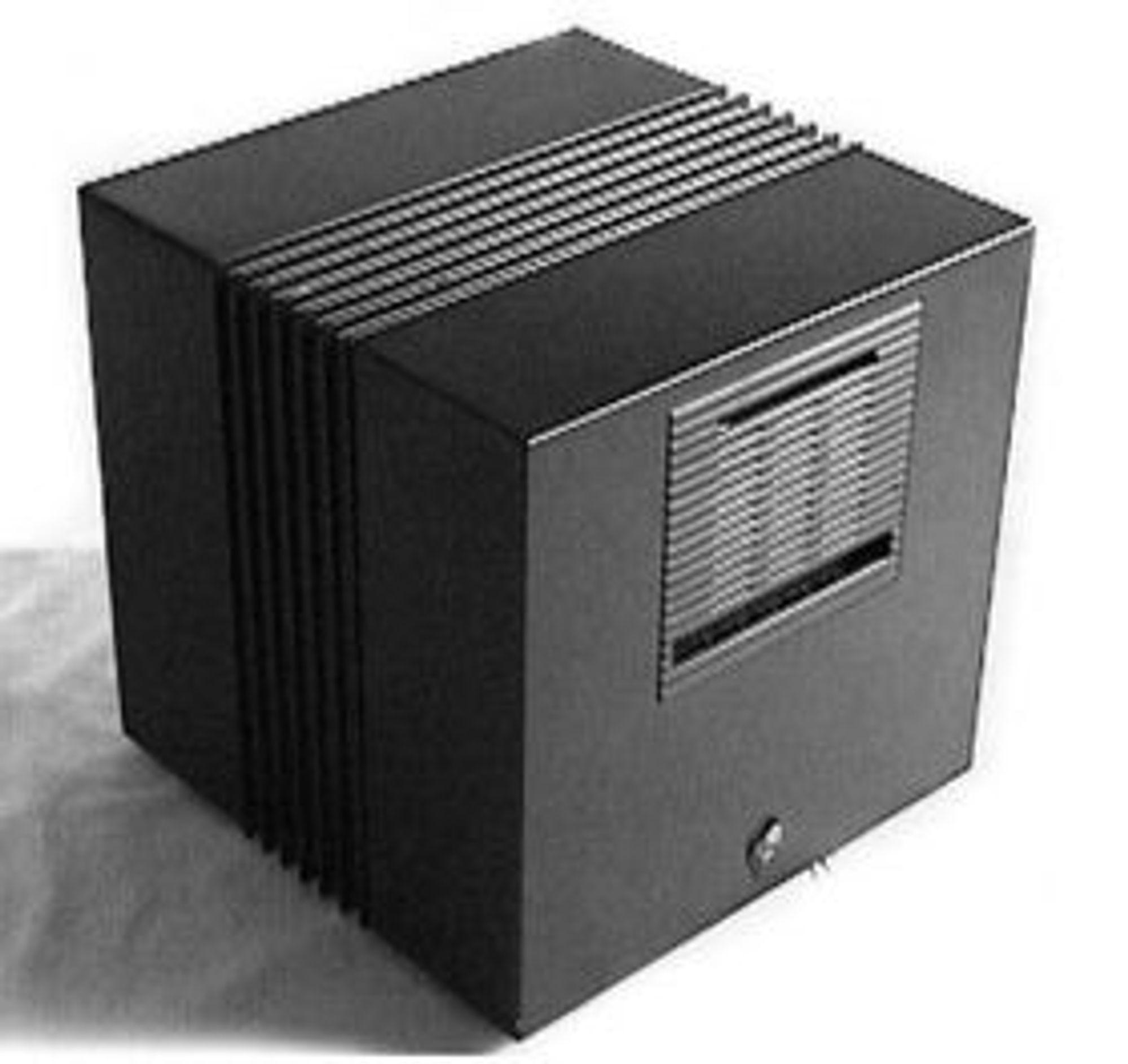 Verdens første webserver og nettsted ble kjørt på en maskin som dette, en NeXTcube fra NeXT.