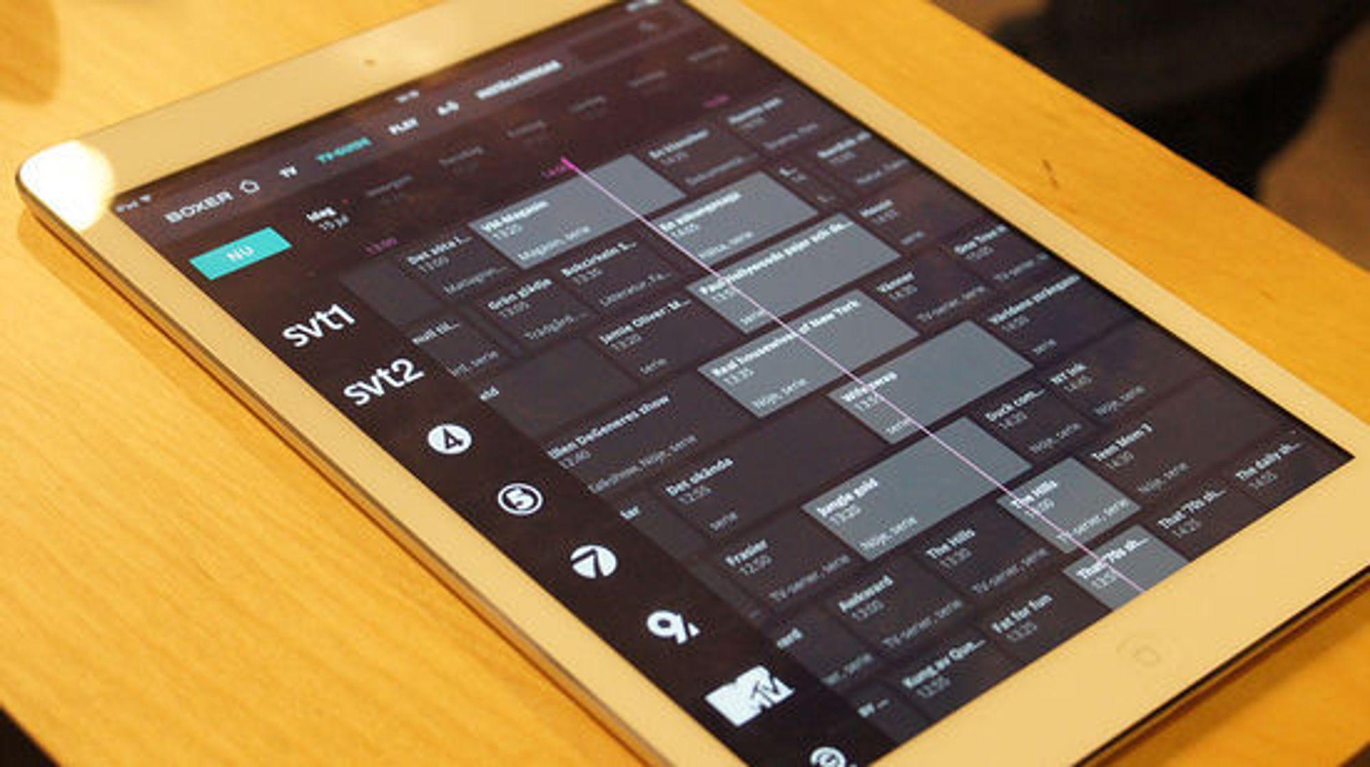 Den nyutviklede applikasjonen til svenske Boxer.