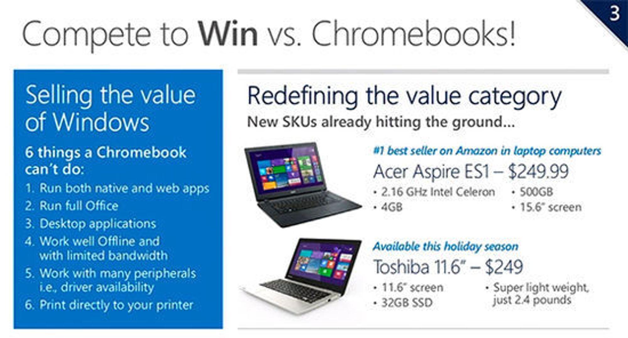 Derfor bør man holde seg til Windows, mener Microsoft.