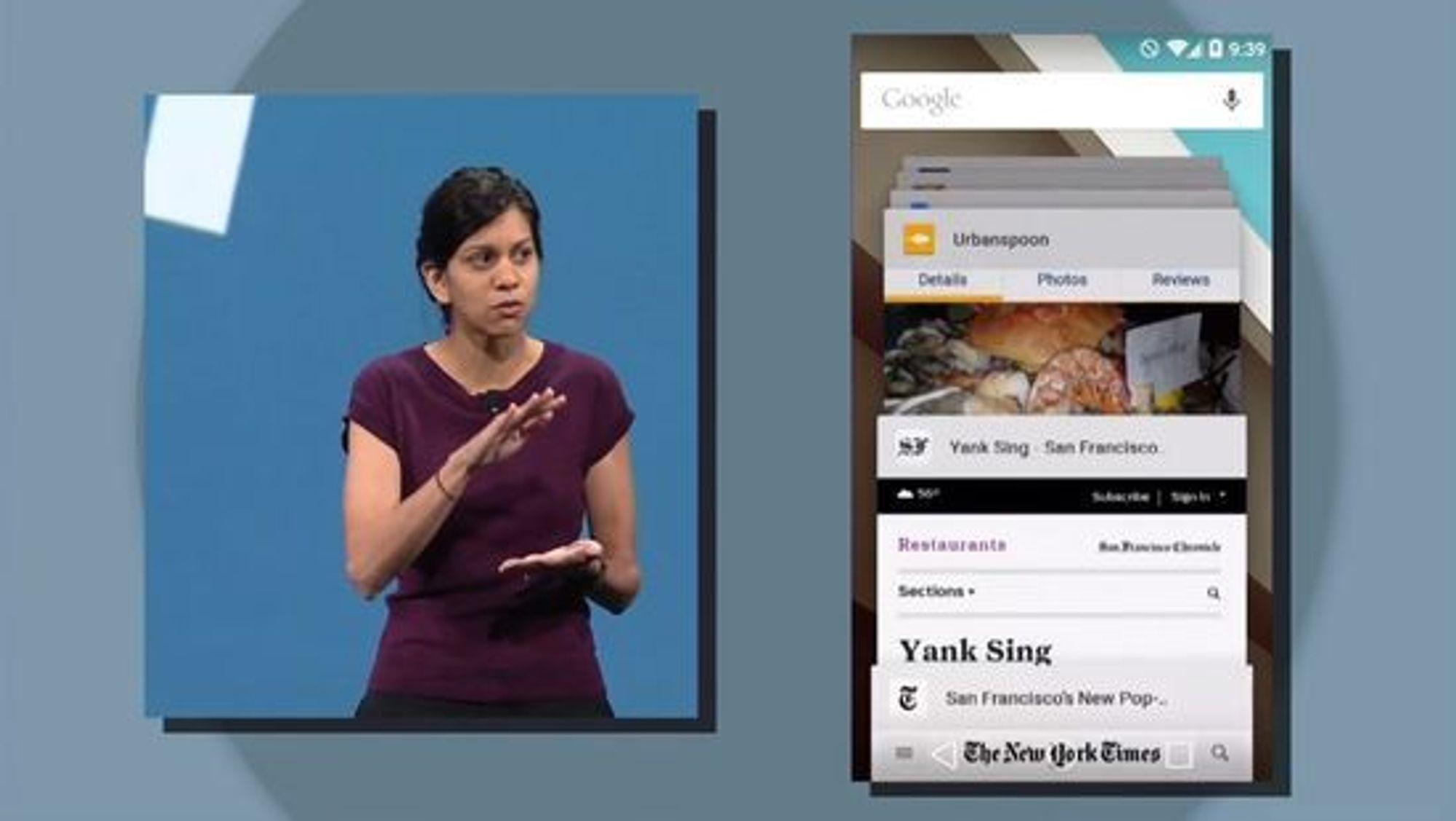 Web og Chrome blir tettere integrert i hele opplevelsen.