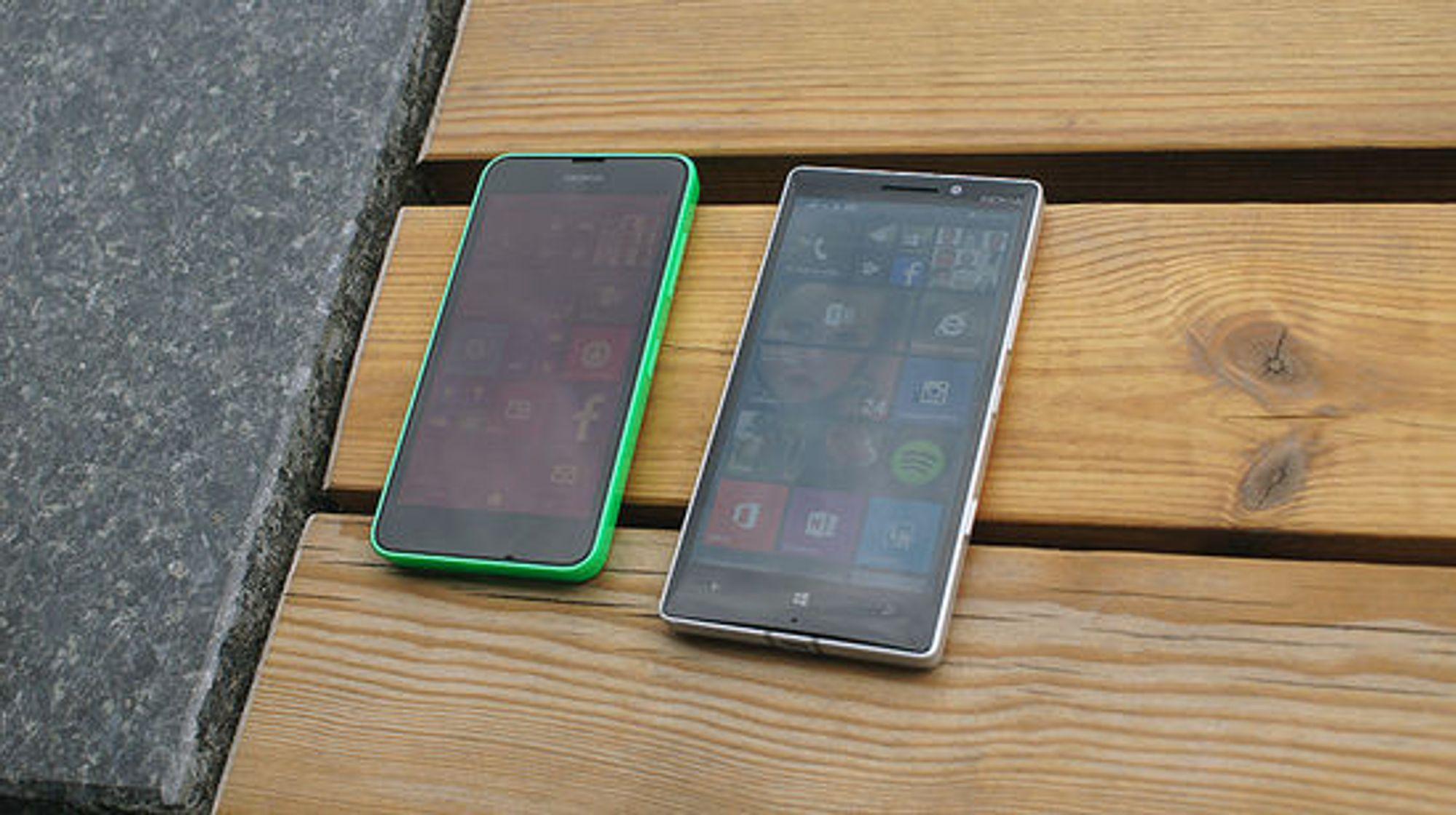 Lumia 630 og 930 er de viktigste modellene akkurat nå.
