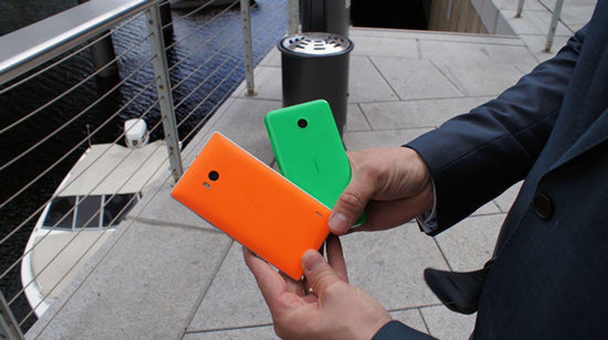 Fargerike bakdeksler er Nokias kjennemerke.
