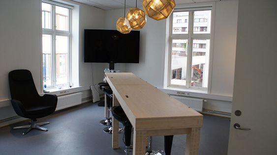 Shuffleboard-bord er selvsagt på plass.