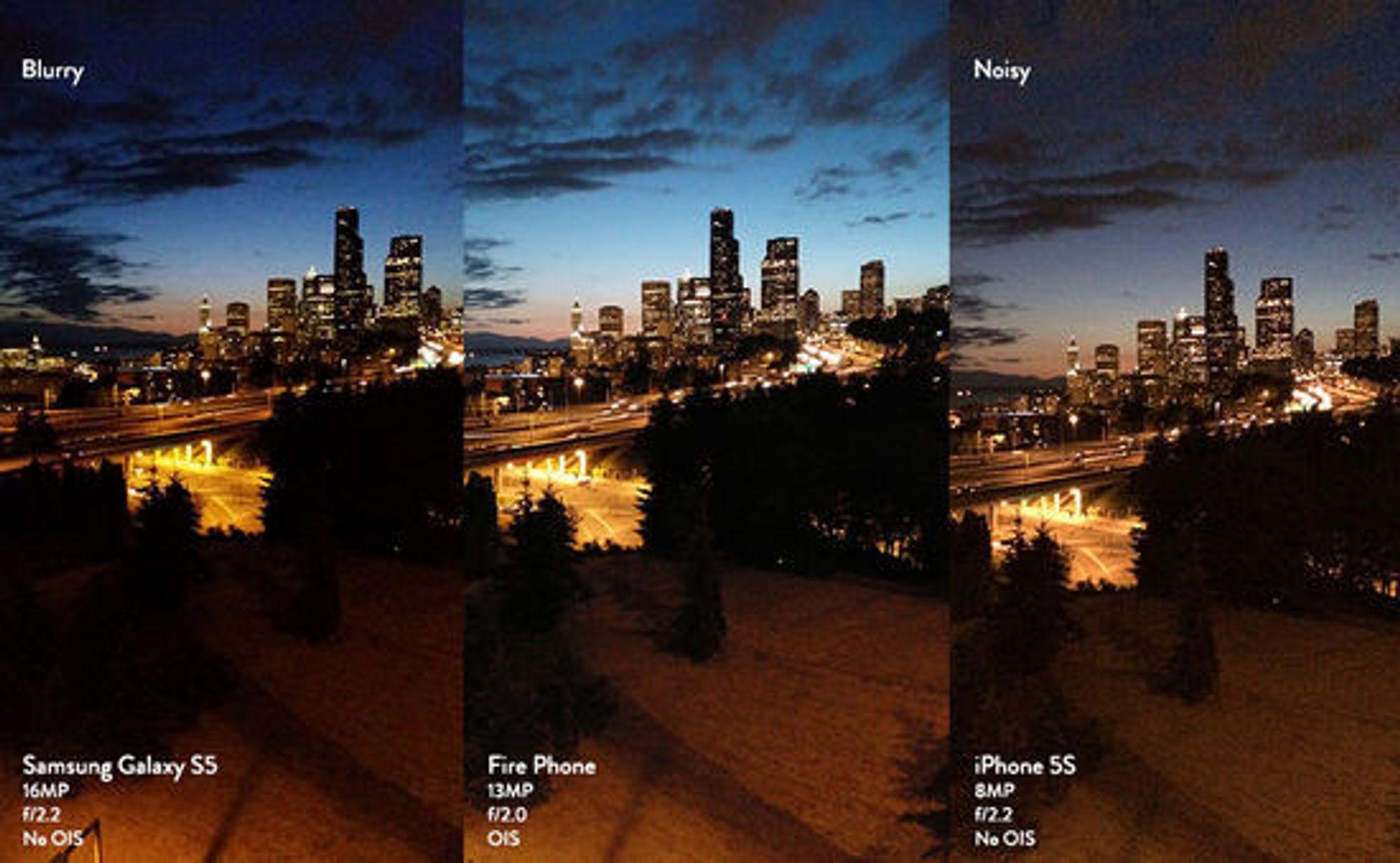 Slik sammenligner Amazon kamera-kvaliteten.