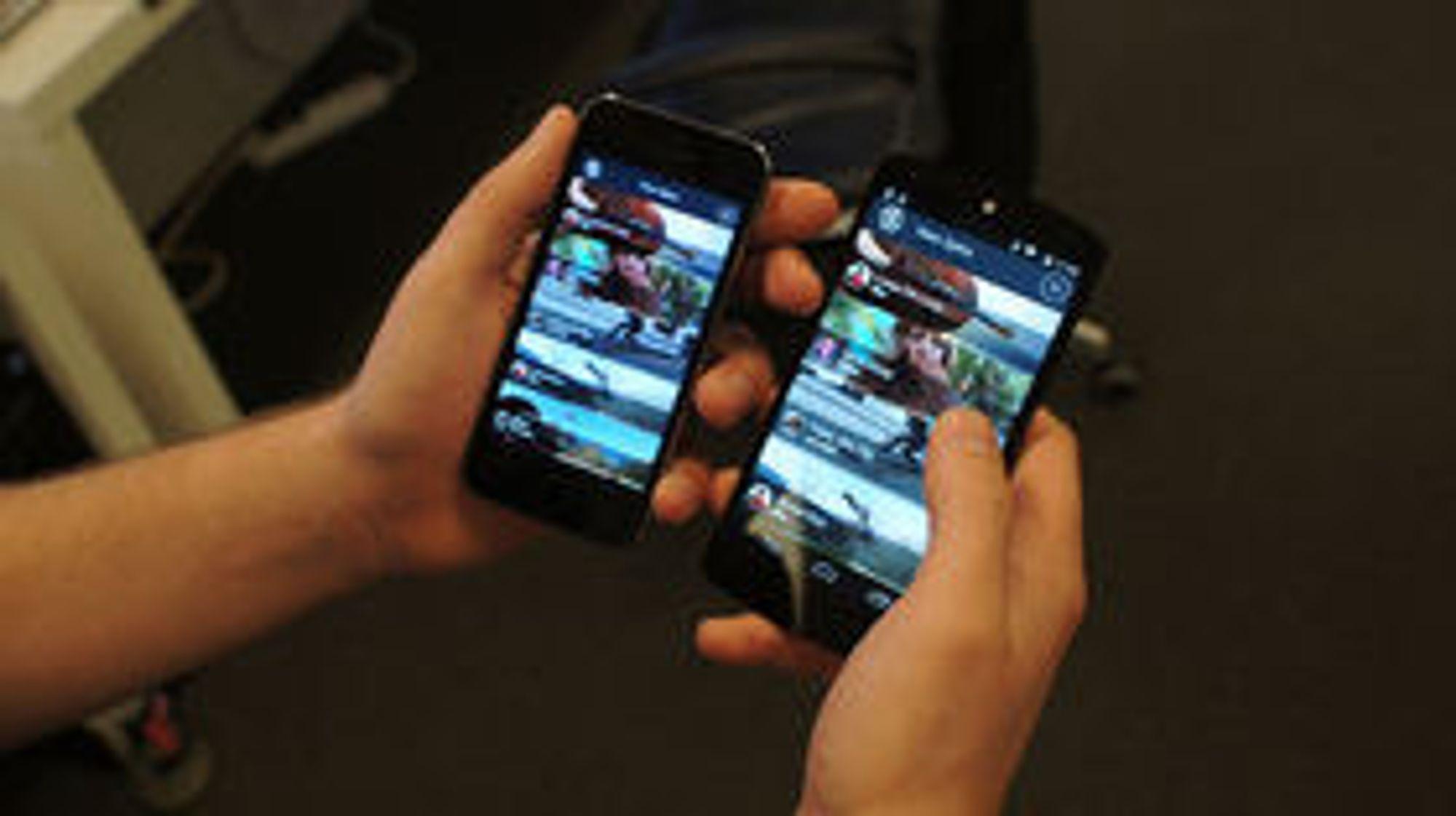 Flere applikasjoner som kjører helt likt på iOS og Android.