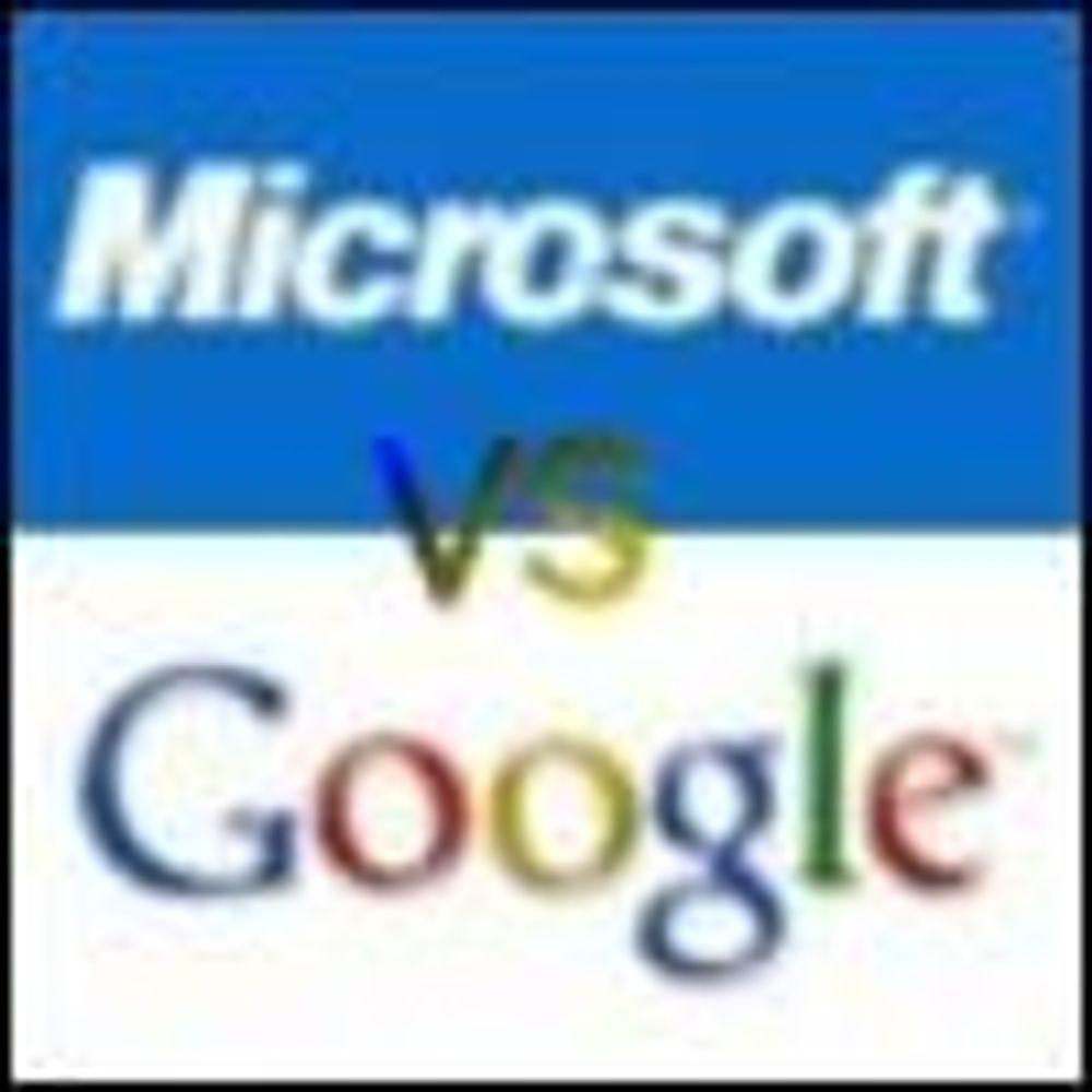 Spesiell krig mellom Google og Microsoft