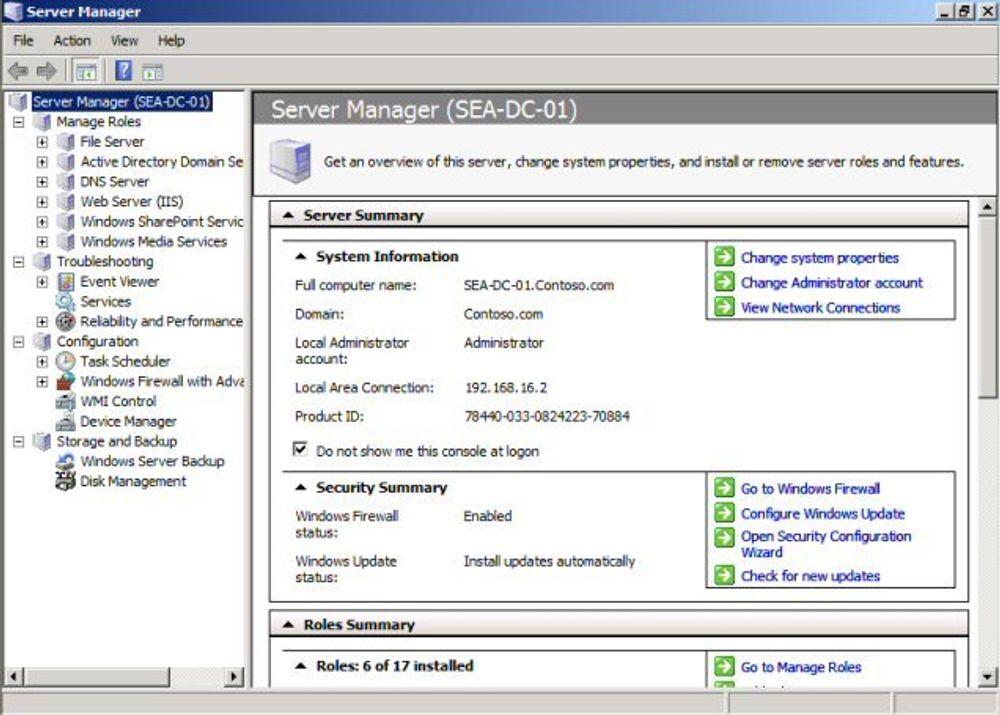 Her er nyhetene i Windows Server 2008
