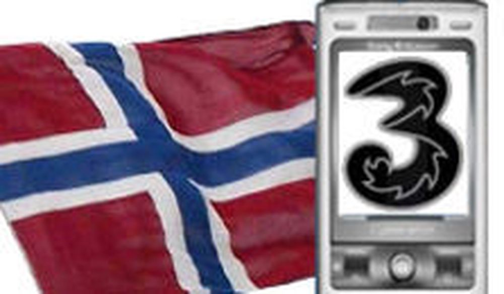 Tre norsk flagg