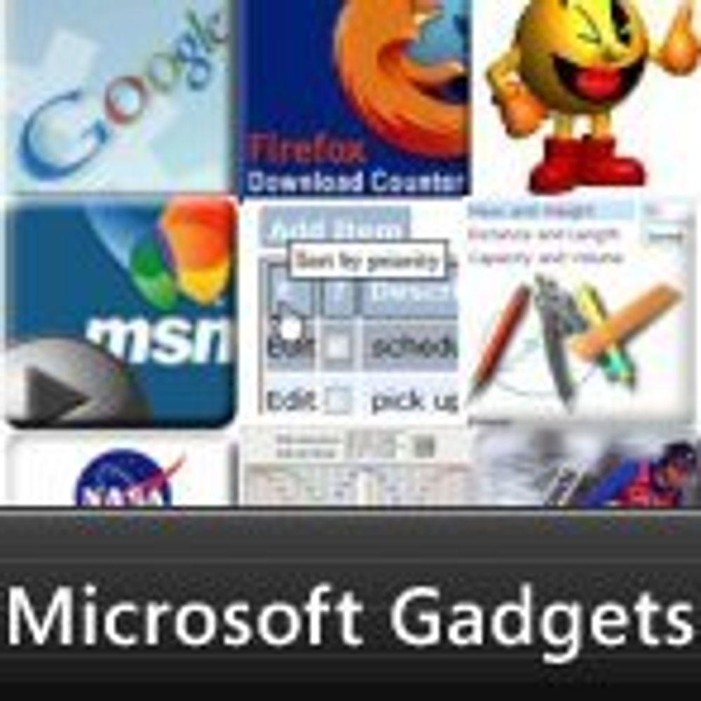 Pynt din hjemmeside med Vista-gadgets