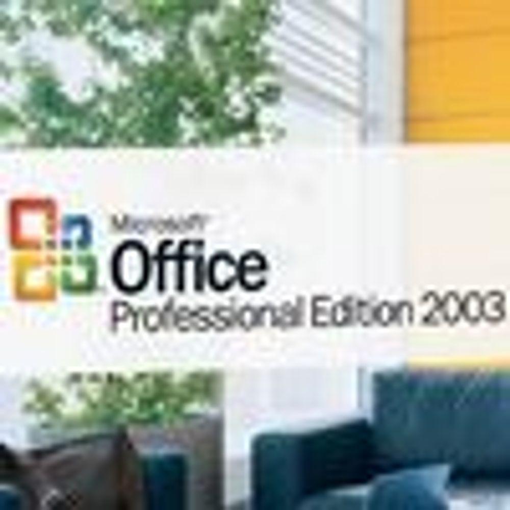 Tar endelig farvel med Office 2003