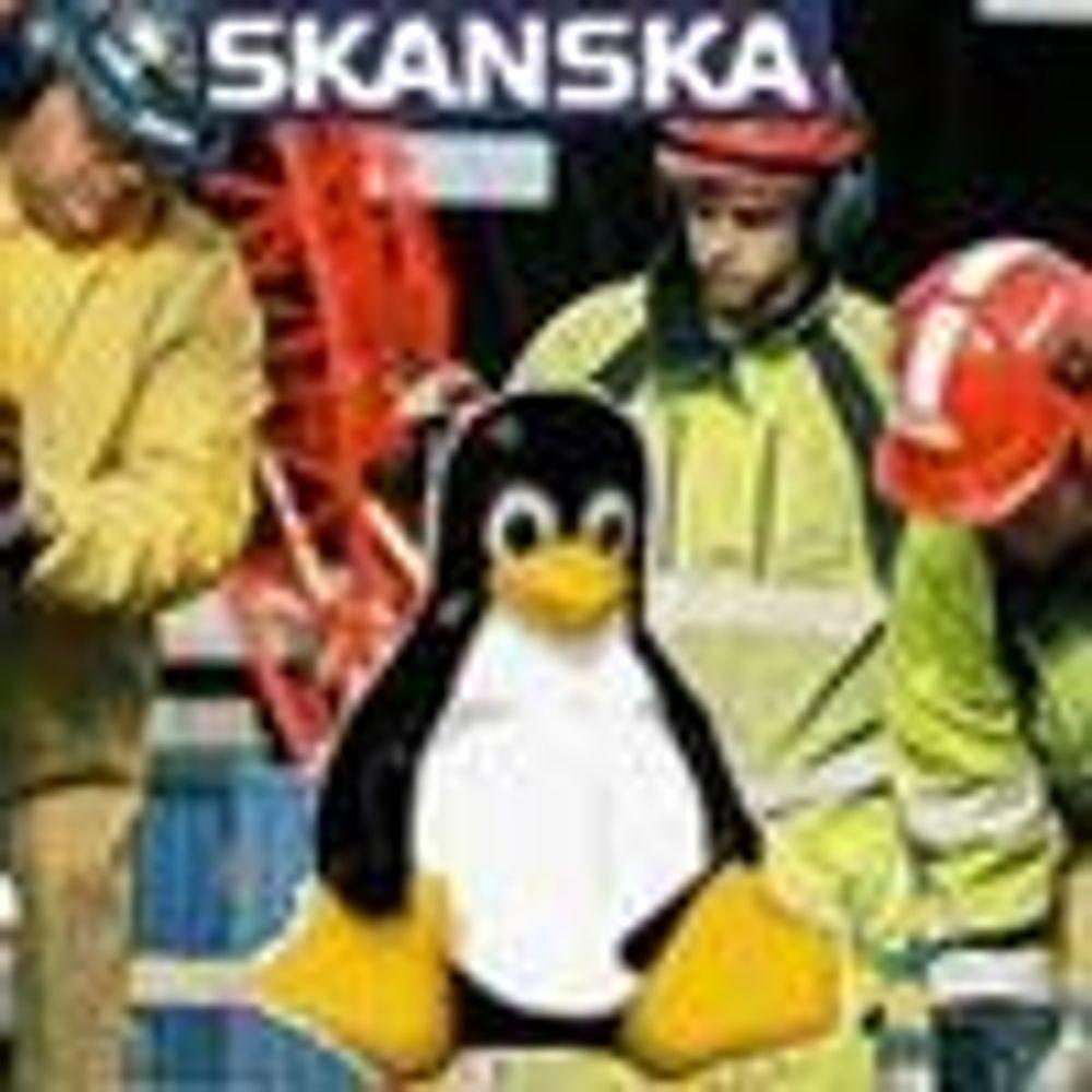 Skanska satser på Linux-klienter