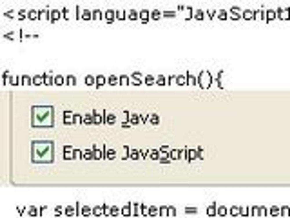 Endelig skal JavaScript videreutvikles