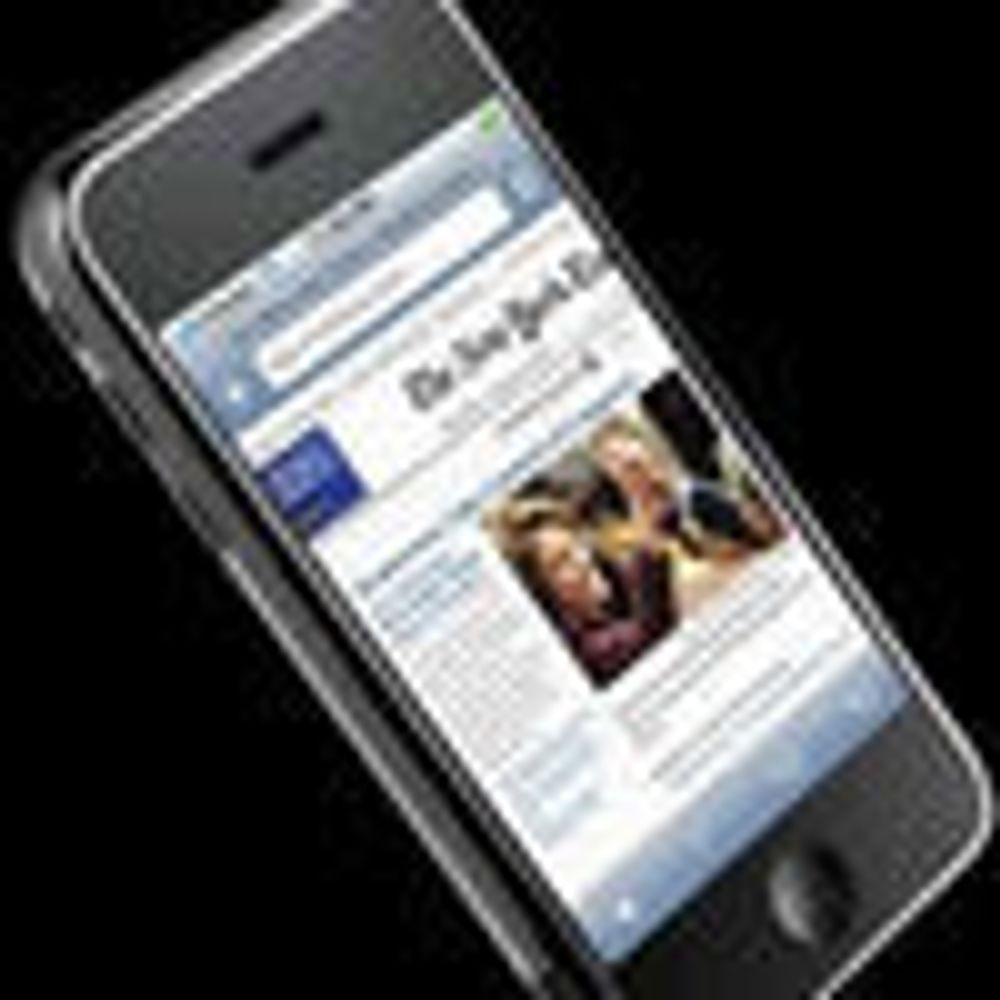 Får utvide Apple iPhone med webprogrammer